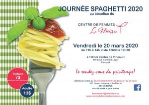 Invitation Journée spaghetti 2020