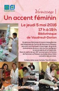 Invitation vernissage projet Accent féminin